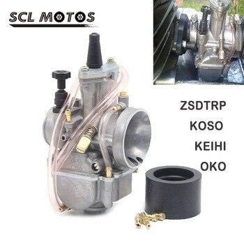 SCL MOTOS de ZSDTRP OKO KOSO PWK Keihi 21 24 26 28 30 32 34mm Carburador para escúter JOG DIO DT100