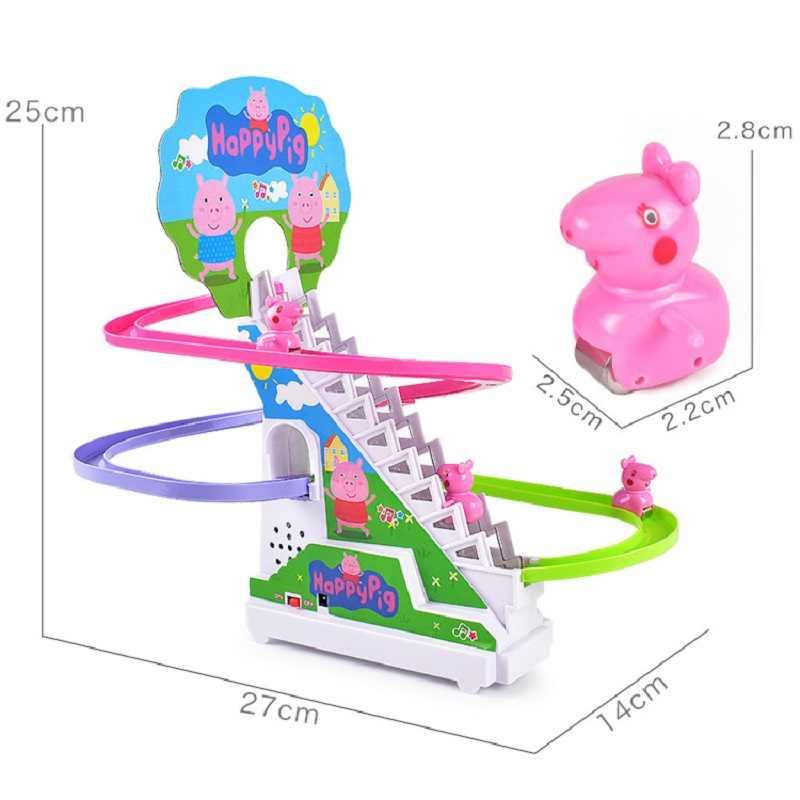 Peppa pig Джордж развивающие игрушки электрическая музыкальная дорожка лестница скользящая пластиковая игрушка детский игровой дом Свинка Пеппа подарок на день рождения