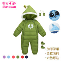 INS Hot Selling Childrenswear bei duo bear Autumn And Winter New Products Thick Baby Onesie Baby Rompers Crawling Clothes Wholes