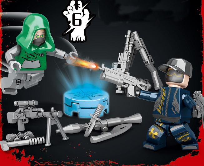 PUBG Playerunknown 39 s Battlegrounds Military Army Weapons Zombie Building Blocks Bricks Kids Classic Model Toys Christmas Gifts in Blocks from Toys amp Hobbies