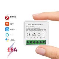 16A Tuya Mini WiFi Switch Module Smart Life Remote Voice Control Smart Light DIY Switch Module Smart Home With Alexa Google Home 1