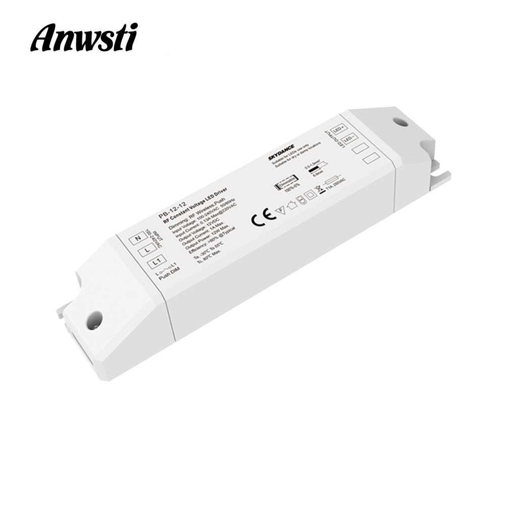 <font><b>12V</b></font> Dimmable LED Driver 12W AC <font><b>110V</b></font> 230V 220V to DC <font><b>12V</b></font> Dimming Driver RF 2.4G Wireless Remote Control <font><b>Power</b></font> <font><b>Supply</b></font> Transformer image