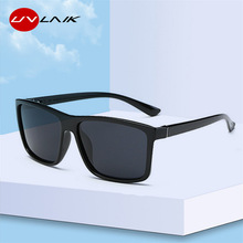 UVLAIK Men Polarized Sunglasses Brand Vintage Square Driving