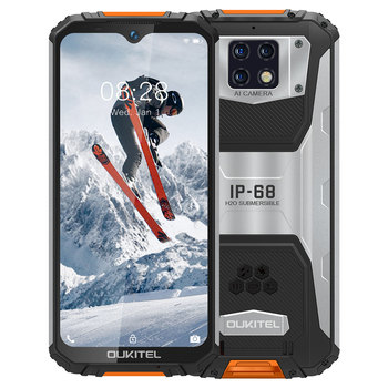 OUKITEL WP6 IP68 Waterproof 10000mAh Mobile Phone Helio P70 4GB 128GB Octa Core 16MP Triple Cameras 6.3'' FHD+ Rugged Smartphone