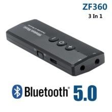 ZF 360 3 في 1 سماعة لاسلكية تعمل بالبلوتوث V5.0 محول الصوت + EDR USB جهاز ريسيفر استقبال وإرسال للكمبيوتر المنزل التلفزيون سماعة الكمبيوتر سيارة