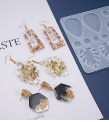 DIY Earrings Resin Mold Handmade Dangle Eearrings Silicone Mold UV Epoxy Moulds for Jewelry Making Tools