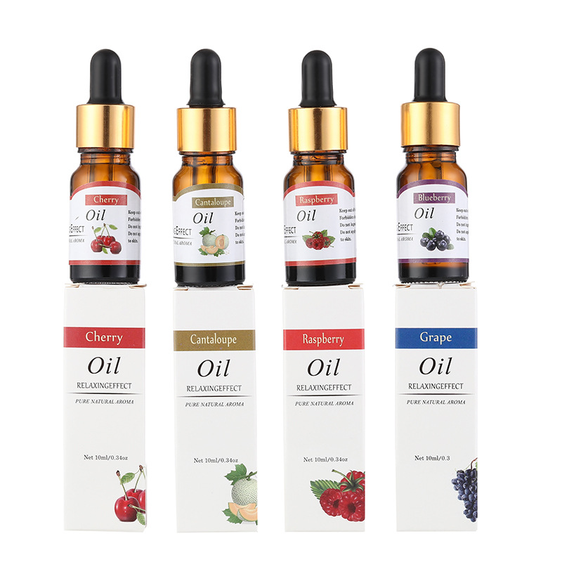 12 Scents Water-soluble Essential Oil For Humidifier, Fragrance Lamp, Aroma Diffuser Natural Fruity Perfume Grape Peach Cherry