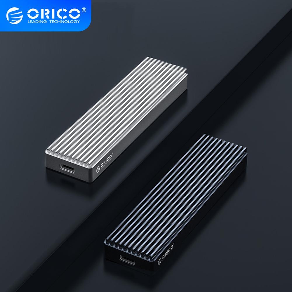 Чехол ORICO M2 NVME SSD для PCIE M Key M + B Key SSD Disk USB C 10 Гбит/с, корпус жесткого диска M.2 SATA SSD Box с кабелем Type C-C