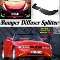 Автомобильный сплиттер диффузор бампер Canard губы для Alfa Romeo RZ/SZ AR ES-30 Тюнинг Комплект/передний дефлектор Fin подбородок снижение высокое