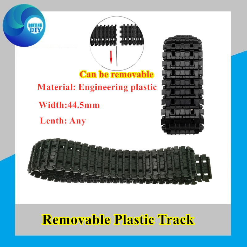 2pcs Plastic Track For Tank Chain Tracked Vehicle Clawler Track-type Remote Control Tank Accessory DIY RC Toy