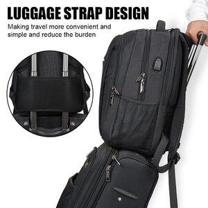Image 5 - OSOCE сумка для ноутбука рюкзак 15,6 дюймов с зарядка через USB Порты и разъёмы для наушников Водонепроницаемый Бизнес рюкзаков сумок
