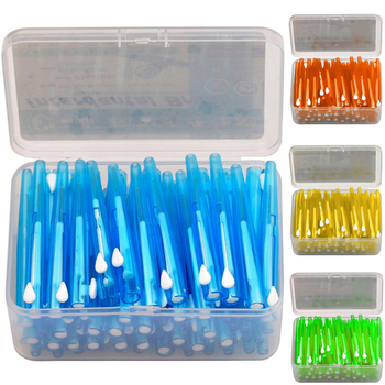 60pcs/box Interdental Brushes Oral Hygiene Clean Between Teeth Dental Cleaning tool Dental Floss Toothpick Tooth Brush
