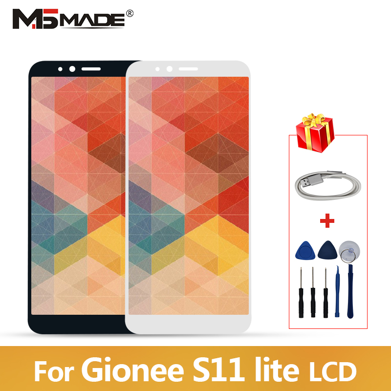 5.7 AAA Quality For Gionee S11 Lite LCD Display Touch Screen Digitizer Assembly Replacement Parts With Frame Free Shipping