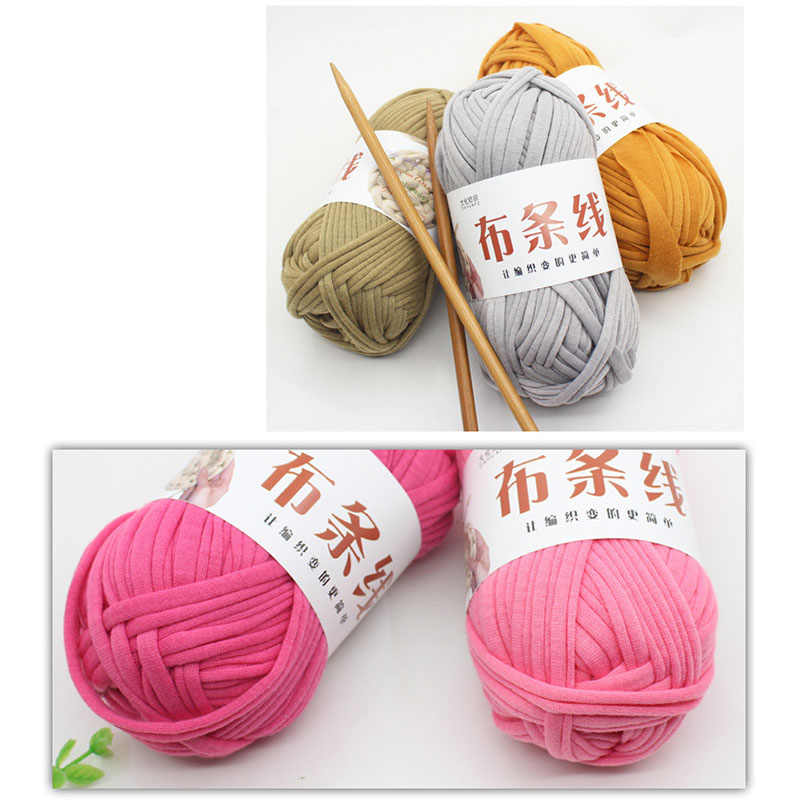100 G/pcs Mewah untuk Benang Rajut Tangan Benang Tebal Crochet Kain Benang DIY Tas Karpet Cushion Kain Katun T-shirt benang