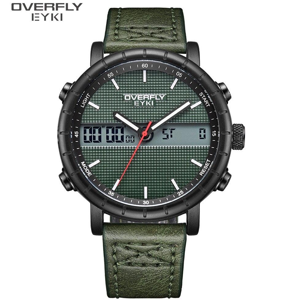 EYKI Brand Men Creative Watch Fashion Waterproof Quartz Watches Sport Leather Wristwatch Multifunctional Watch Reloj Hombre