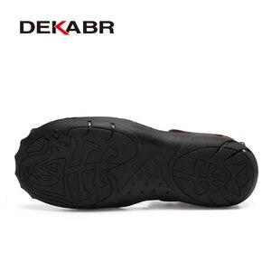 Image 4 - DEKABR Mới Nam Nam Da Thật Chính Hãng Giày Sandal Nam Mùa Hè Nhân Quả Giày Đi Biển cho Người Đàn Ông Thời Trang Ngoài Trời Đế Mềm