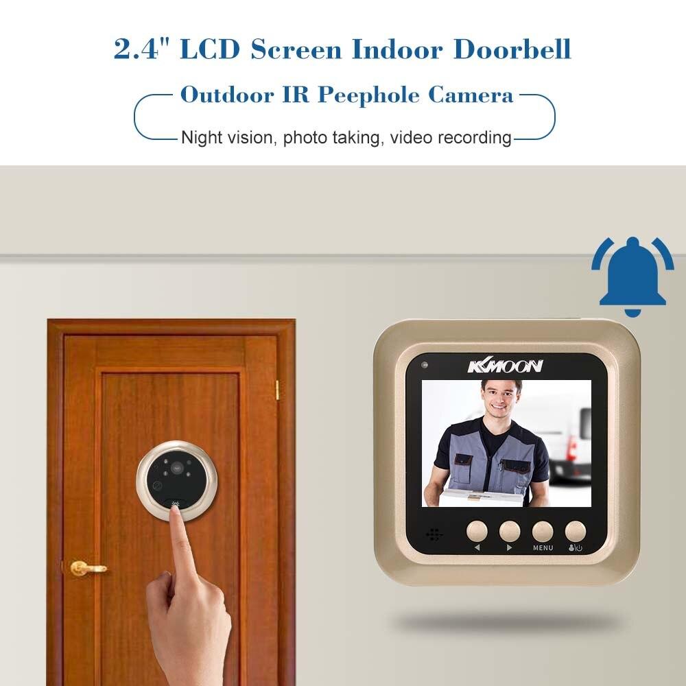 Электронный дверной звонок KKMOON с ЖК экраном 2,4 дюйма, ИК глазок для ночной двери, камера для фото и видеосъемки, цифровая дверная камера|Дверной звонок|   | АлиЭкспресс