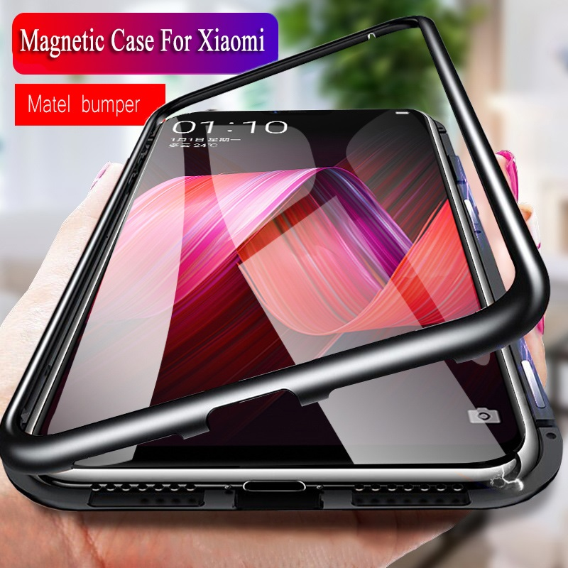 Magnetic Adsorption Metal Case for Xiaomi Redmi Note 8 7 6 5 Pro 8a 7a K20 mi 10 9 SE lite A3 mi 9t mi9t CC9 pro Magnet case image