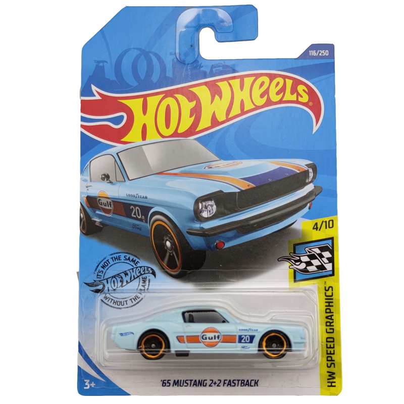 2020-116 Hot Wheels 1:64 Car 65 MUSTANG 2 2 FASTBACK Metal Diecast Model Car Kids Toys Gift