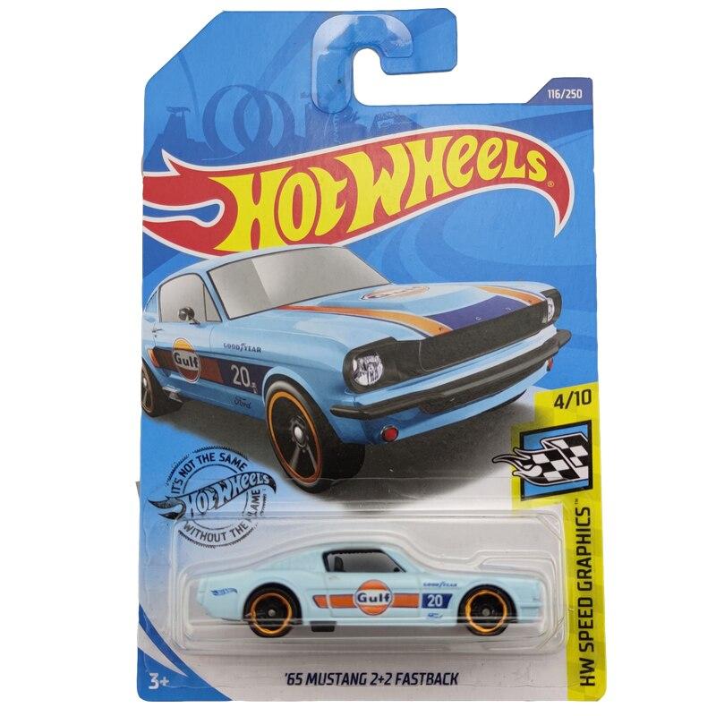 2020-116 Hot Wheels 1:64 Car 65 MUSTANG 2 2 FASTBACK Metal Diecast Model Car Kids Toys Gift