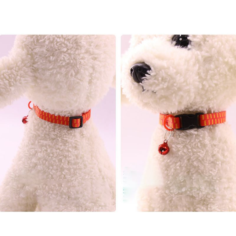 Practical Cat Collar Bell Small Dog Puppy kitten Strap Necklace Flea With  Cats for pets Supplies