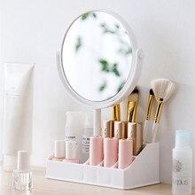 Двойное настольное дамское зеркало настольное увеличение принцесса зеркальный шкафчик круглый маленькое зеркало для макияжа
