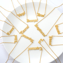 3-cores 12 constellation estrelas zodiac carta colar pingente de aço inoxidável colar de corrente longa feminino presente amigo