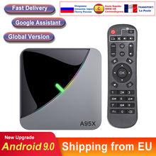 Android caixa de tv a95x f3 ar android 9.0 amlogic s905x3 8k duplo wifi media player smart tv caixa tv conjunto superior caixa consoles de tv android