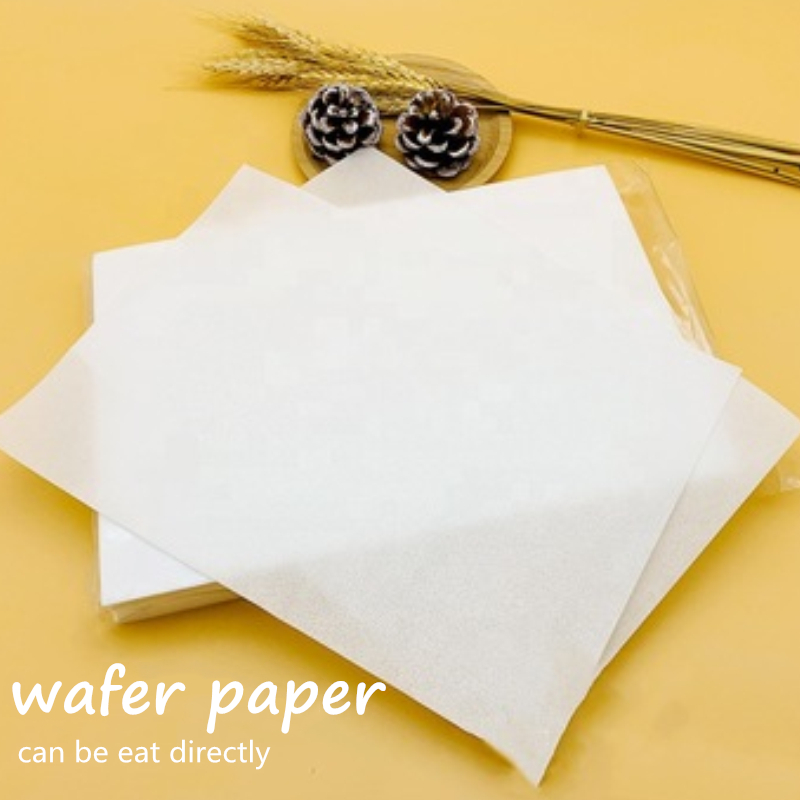 Wafer Paper For Cake Lollipop Decoration Edible Wafer Glutinous Rice Thick Section Edible Paper Customized Food Paper 5 Pcs/bag