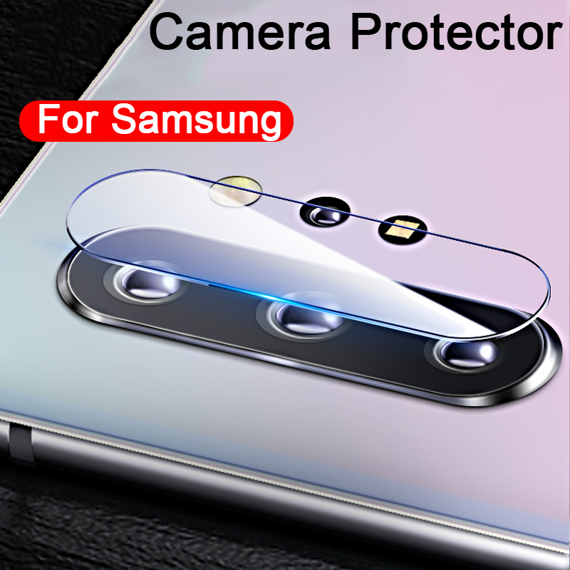 Camera Lens Tempered Glass Protector on the for <font><b>Samsung</b></font> Galaxy Note 10 <font><b>Plus</b></font> Note10 Pro S8 <font><b>S9</b></font> S10e S10 HD <font><b>Screen</b></font> <font><b>Protective</b></font> Film image