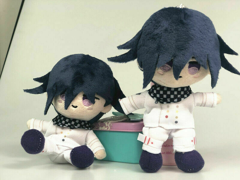 Anime Plush Doll Keyring Danganronpa V3 Dangan Ronpa Oma Kokichi Komaeda Nagito Cosplay DIY Handmade Material Plush Keychain Toy