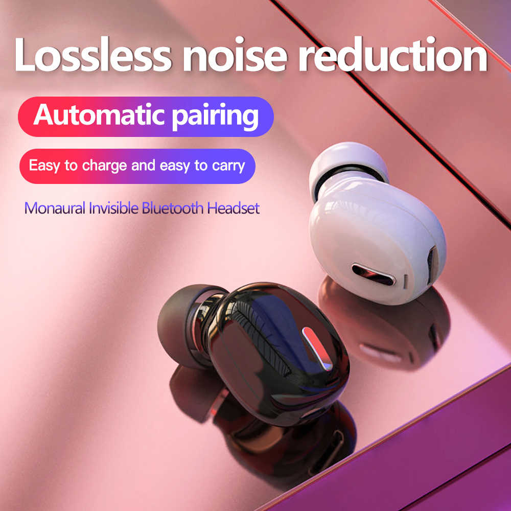 Mini-Tai 5.0 Bluetooth HiFi Tai Nghe Không Dây Có Mic Tai Nghe Nhét Tai Thể Thao Tay Nghe Âm Thanh Stereo Tai Nghe Nhét Tai Cho Tất Cả điện Thoại
