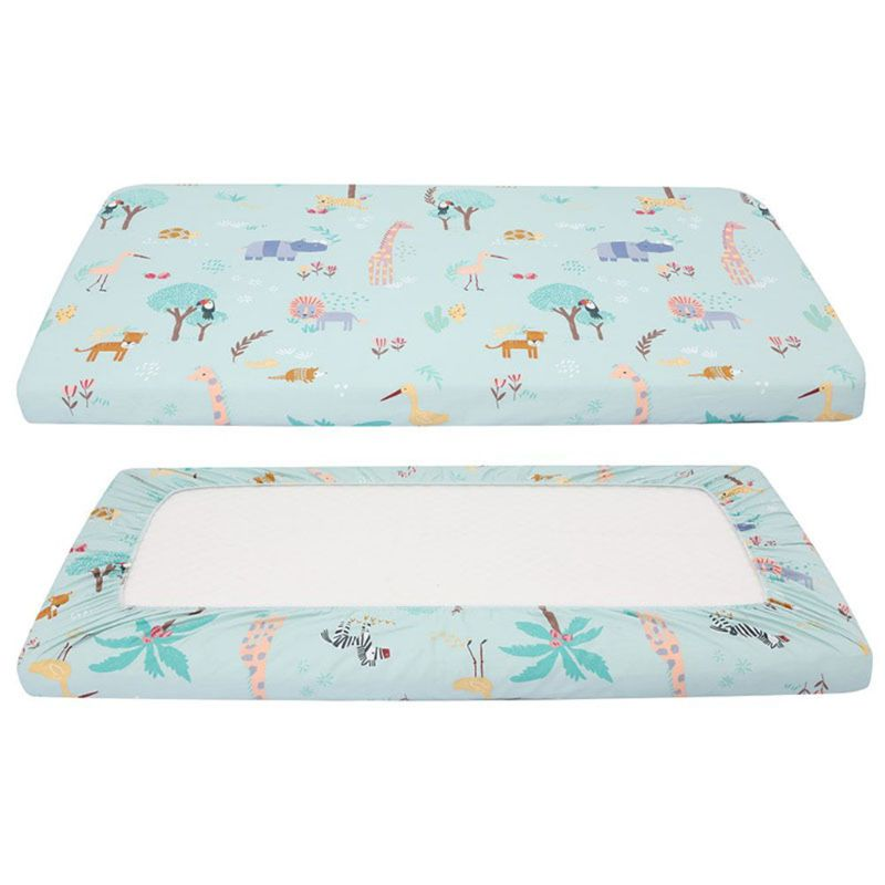 Soft Cotton Newborn Baby Bed Mattress Cover Infant Crib Changing Table Pad Cover Bedding