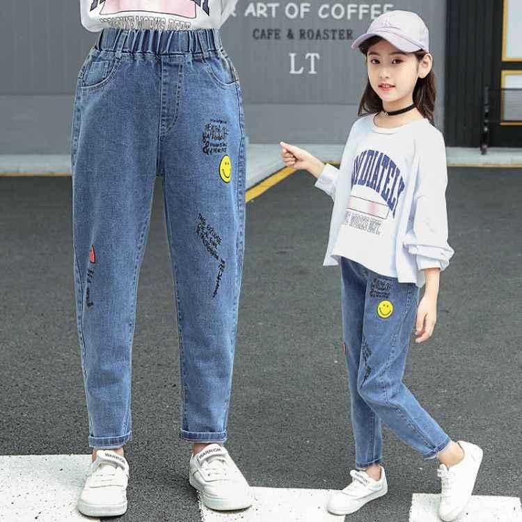 Nieuw Merk Winter meisjes Jeans Dikker baby Jeans Warm Kids Broek Elastische Taille Demin Broek Voor Kinderen Causale Jongen Baby jeans