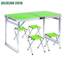 Dobrável ao ar livre cadeira de mesa de acampamento de liga de alumínio mesa de piquenique à prova dwaterproof água ultra-leve durável dobrável mesa de mesa para