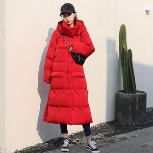Image 3 - JuneLove женская теплая пуховая куртка из хлопка, винтажная женская зимняя модная Толстая парка с капюшоном и карманами, теплая куртка оверсайз, верхняя одежда