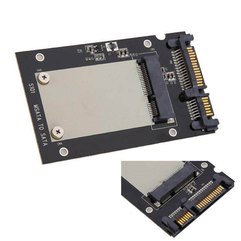 MSATA SSD To 2.5 Inch SATA 22-Pin Converter Adapter Card For Windows2000/XP/7/8/10/Vista Linux Mac 10 OS