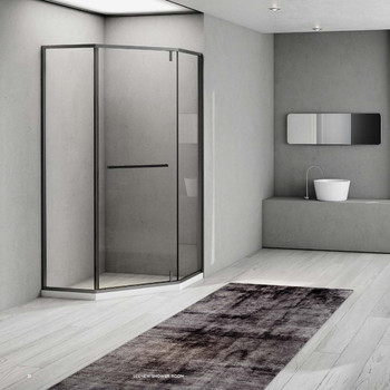 Bathroom, bath room, dry and wet separation, bathroom, shower room, partition, household bath room, glass door, simple bath scre