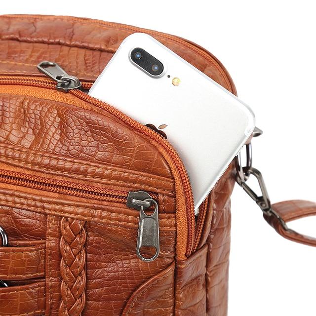 Женская сумочка из высококачественной искусственной кожи 5