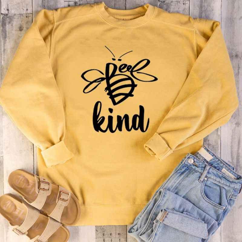 Kadın kazak arı tür baskılı o-boyun sonbahar gömlek uzun kollu kış güz giyimi gevşek büyük boy kore giysi