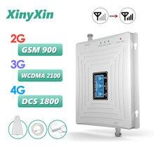 Усилитель сотовой связи GSM 2G 3G 4G, трехдиапазонный усилитель сотового сигнала 4g, репитер GSM 900 DCS LTE 1800 WCDMA 2100