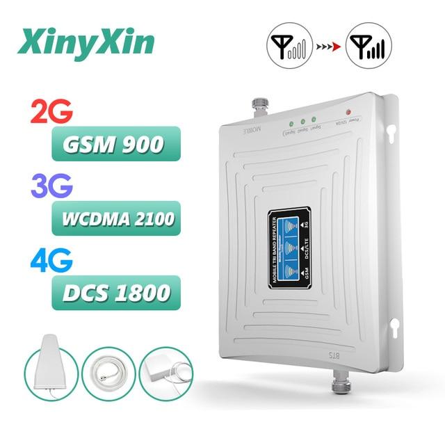 リピータ gsm 2 グラム 3 グラム 4 グラム携帯アンプブースター携帯電話 900 dcs lte 1800 wcdma 2100 トライバンド携帯電話 4 グラム信号ブースター