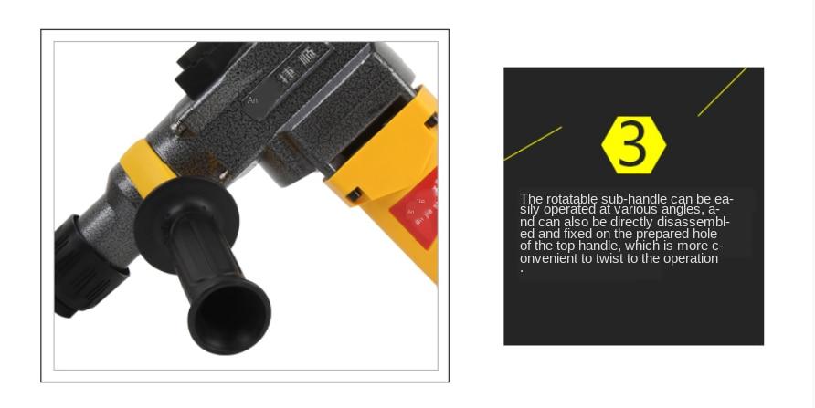 H5682135f66c34cafa49d90e643ec3811W - Anjieshun 220V 4-function AC Electric Hammer, High-power Electric Hammer Multi-function Impact Drill Dual-purpose Power Tool