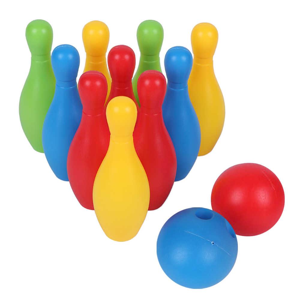 Trẻ Em Đồ Chơi Bowling Bộ Ngoài Trời Trong Nhà Trò Chơi Bowling Đại Cho Bé  Trai Bé Gái Quà Tặng Gia Đình Giải Trí 10 Chân Và 2 Bowling bóng Bowling