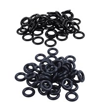 50 PCS 18mm x m Nitrile Rubber O Ring Oil Sealing Seals & 50X Black 16mm OD 9mm Inner Dia Nitrile Rubber O-Ring(China)