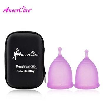 Copa Menstrual de higiene femenina, colector de silicona médica, Copa Menstrual de...