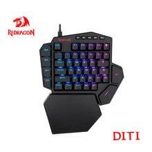 Redragon DITI K585 RGB 42 Key One-handed Mechanical Gaming Keyboard Blue Switch 7 programmable macro keys For FPS LOL/PUBG Games