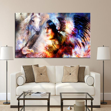 Large size Print Oil Painting Wall painting Beautiful Woman eyes Wall Art Picture For Living Room painting No Frame