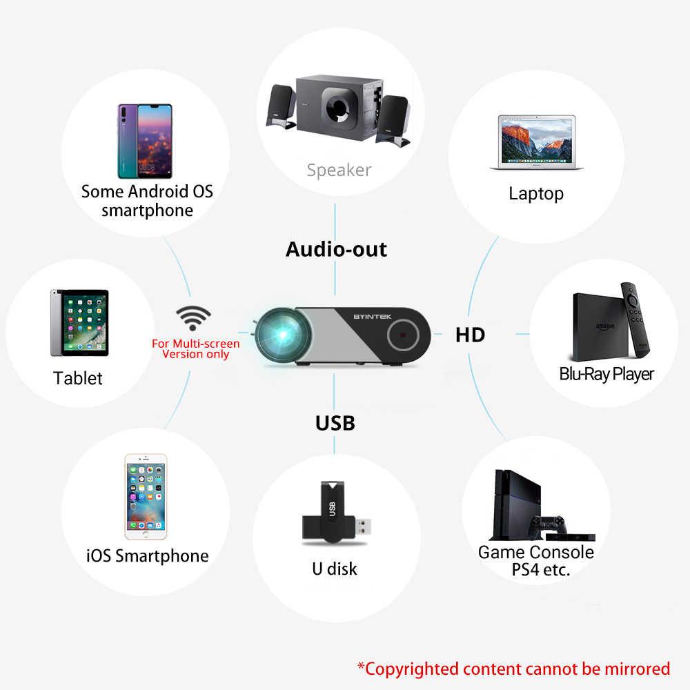 720P 1080P LED المحمولة مايكرو المسرح المنزلي HD جهاز عرض صغير byintk SKY K9 (اختياري متعدد الشاشة آيفون باد هاتف لوحي)