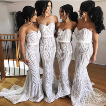 Strapless Sequined White Maxi Dress Sleeveless Stretchy Floor Length Party